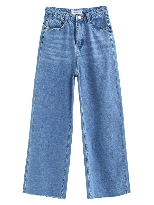 High Waist Wide Legs Jeans Pants Bottoms