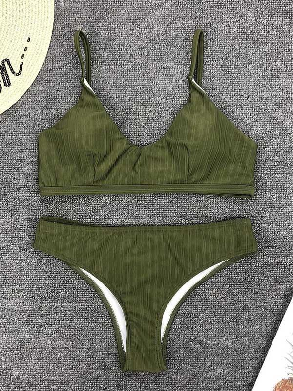 Solid Simple Beach Bikinis Swimwear