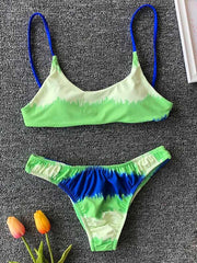 Troop Lace Up Bikini Swimsuit