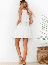 Simple Embroidered Sleeveless Mini Dress