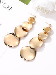 Retro Cropped Alloy Wafer Earrings