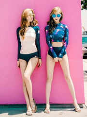 Conservative Long Sleeve Tankini Swimsuit