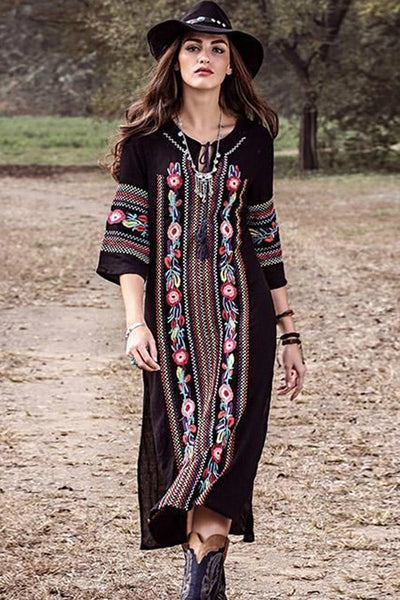 Short Sleeve Embroidery Cotton Beach Cover Ups