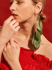 Feather Bohemia Tasseled Earrings