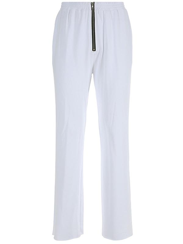 Zipper Casual Straight Leg Pants