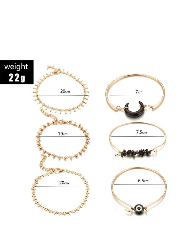 Horn Eye Gravel Bead Styles 6pieces Bracelet