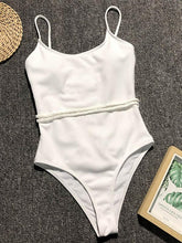 Plain Backless One Piece Swimsuit