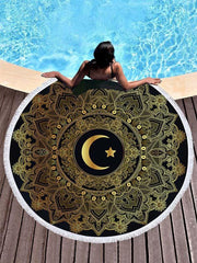 Popular Hot Style Moon Printed Beach Mats
