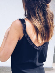 Lace V-neck Sling Vest Top