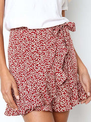 Ruffled Leopard Sweet Printed Bandage Skirt Bottom