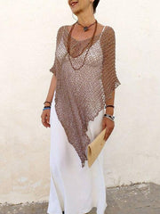 Hollow Crochet Cover-Up Swimwear
