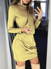 Long Sleeves Bodycon Mini Dresses