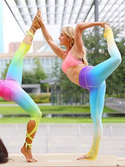 Color Yoga Bandage Leggings