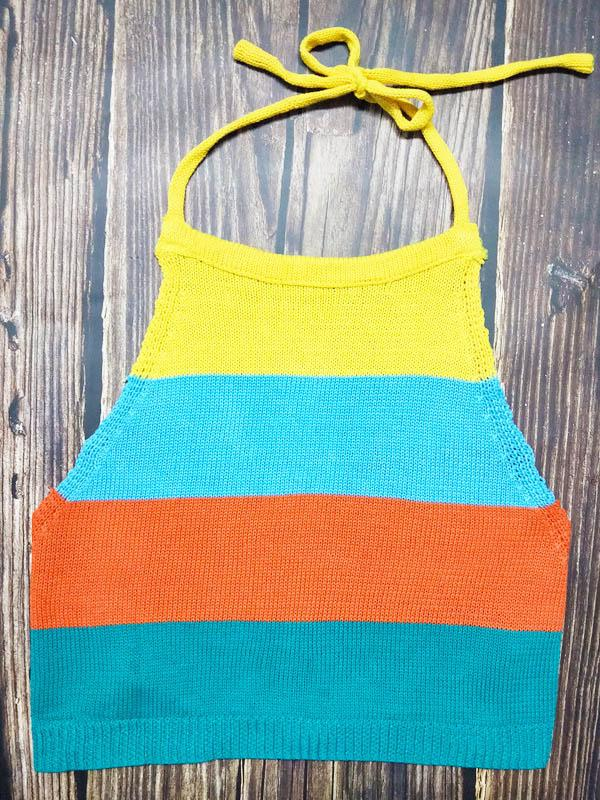 Striped Knitting Spaghetti-neck Vest Top