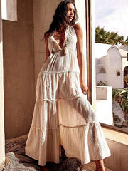 Split-joint Sleeveless Maxi Dress