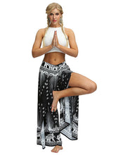 Front Split Digital Printed Yoga Pants
