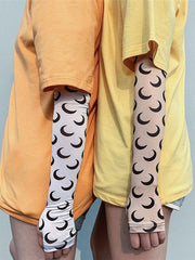Sports Moon Pattern Sunscreen Sleeves