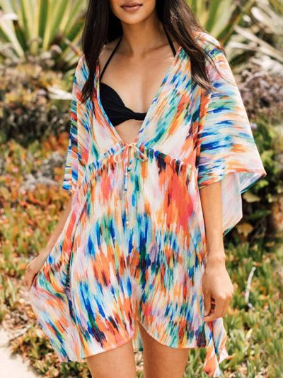 Sexy Deep-neck Loose Cover-ups Swimwear