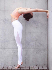 Split-joint See-through Yoga Pants