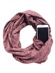 Simple Functional Zipper Colorful Scarf