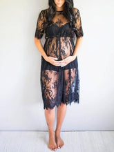 Maternity Lace Short Sleeves Cover-up