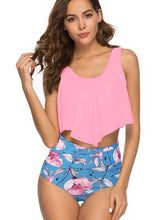 Ruffle High Waisted Tankini Swimsuit