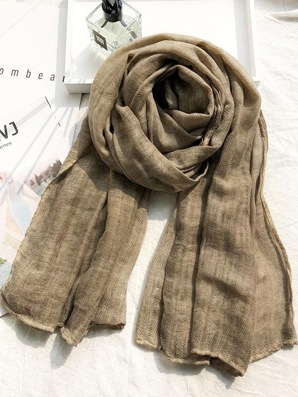 Pure Color Cotton Soft Shawl Scarf