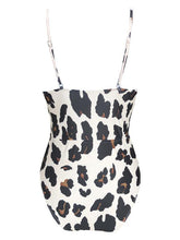 Leopard Printed Balconette One-piece Swimsuit