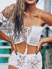 Crocheto Strapless Swimwear Bralette Top