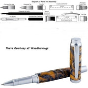 Pen Kits Exclusive by Woodturningz - Wood Acrylic Supply
