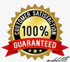 We provide a 100% satisfaction guarantee on all your purchases and you can ship them back on us.