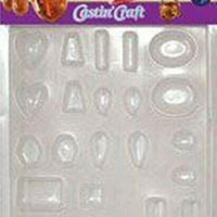 ETI EasyCast Resin Jewelry Mold 11 jewelry gem shapes on one convenient tray - Wood Acrylic Supply