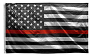 3' x 5' Thin Red Line American U.S. Flag - Firefighters