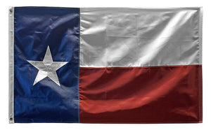3' x 5' Texas Embroidered Flag - Wood Acrylic Supply