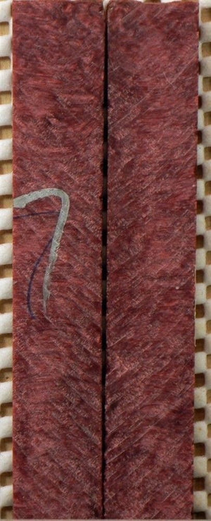 "Mauve Coral Inlace Acrylester #27 (2 pc) Mini Knife Scales  3/16""x3/4""x5""    001"