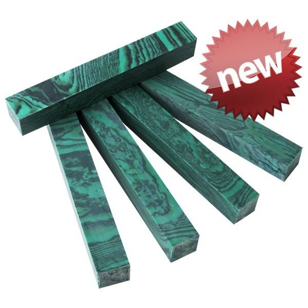 "SimStone - 01 Malachite Pen Blank 3/4"" x 5"" (1 pc) Unique"