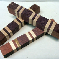"Laminated Purpleheart Maple (1 pc) Pen Blank 7/8""sq x 6"" - 7861"