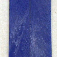 "Solid Blue Inlace Acrylester sc7 (2 pc) Knife Scales 3/16"" x 3/4"" x 5"" - 1475 - Wood Acrylic Supply"