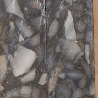 "Black/Gray Crush Acrylic #11 (2 pc) Mini Knife Scale 3/16""x3/4""x3"""