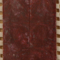 "Crimson & Silver Inlace Acrylester  (2 pc) Mini Knife Scale  3/16""x1""x5""    002"