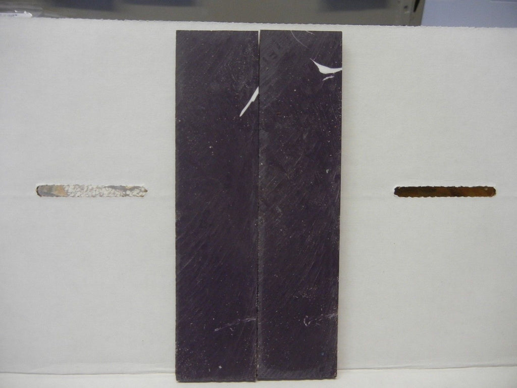 "Alumilit Purple w White Streak (2 pc) Knife Scales 1/4"" x 1 1/2"" x 6"" - 7810"