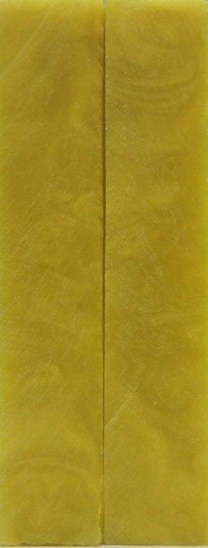 "Crushed Yellow Acrylester #03 (2 pc) Mini Knife Scales  3/16"" x 1"" x 6"" 4960"
