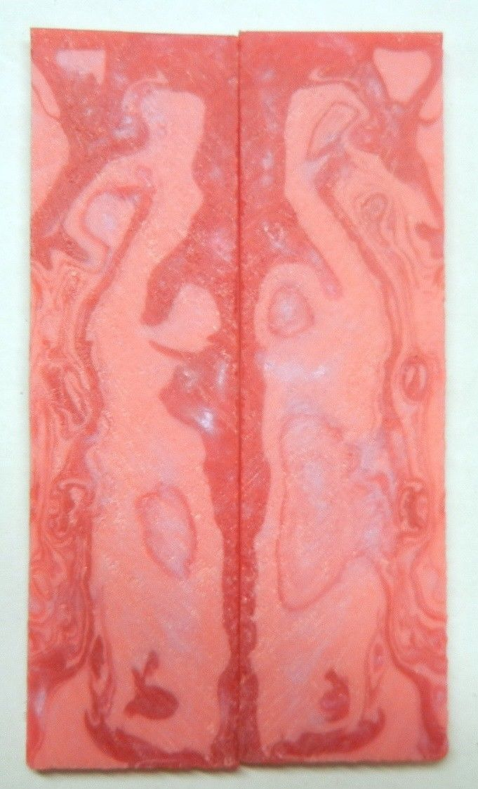 "Blush Acrylester #103 (2 pc) Knife Scales 1/4"" x 1 1/2"" x 5"" - 2312"