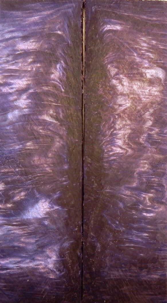"Bronze & Violet Acrylester #02 (2 pc) Knife Scales 1/4"" x 1 1/2"" x 5"" - 1758"