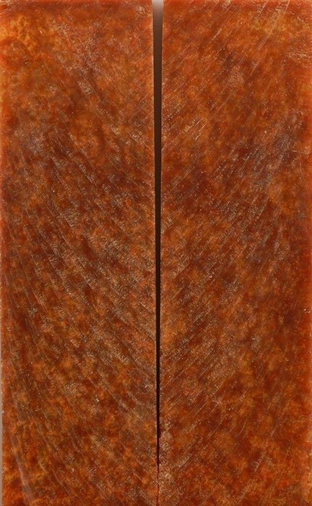 "Red Russet Gold Inlace Acrylester #22 2 pc Knife Scale  1/4""x1 1/2""x5""      006 - Wood Acrylic Supply"
