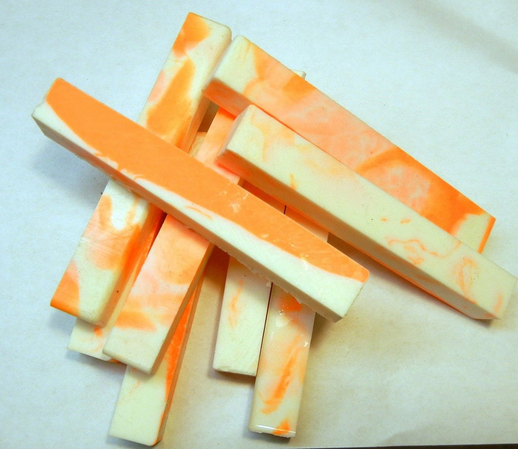 "Alumilit Orange Creamcycle (1 pc) Pen Blank 3/4""sq x 5"" - 1952"