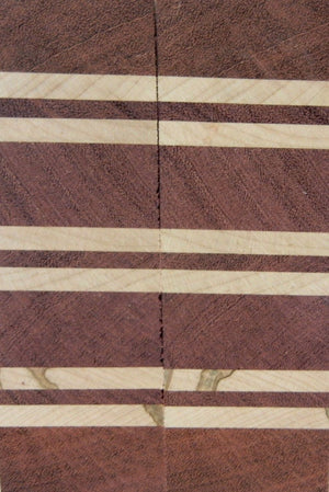 "Laminated Purpleheart Maple (2 pc) Razor Knife Scales 3/16"" x 2"" x 6"" - 7862"
