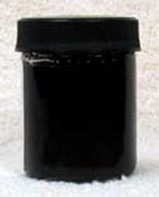 Inlace Inlay Solid - Opaque Black Dye Color 1 Ounce Glass Jar 61001