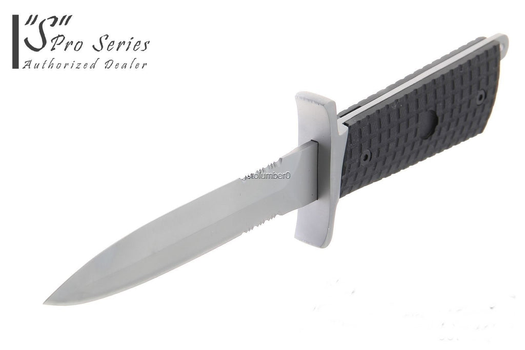 "Tactical ""S"" Series Survival Dark Ops  Knife Full Tang Wild Boar & Hog Hunter  K"