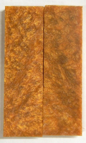 "Sparkle Gold Acrylester #06 (2 pc) Knife Scales 3/8"" x 1 1/2"" x 5"" - 2258"